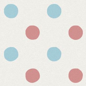 赤と水色の水玉の壁紙素材