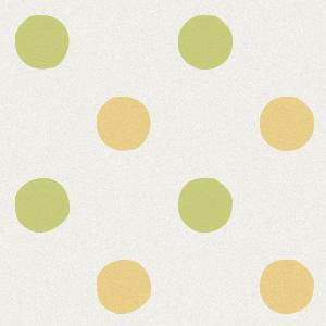 黄緑色と茶色の水玉の壁紙素材