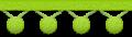ポンポンフリンジのイラスト素材 黄緑