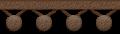 ポンポンフリンジのイラスト素材 茶色