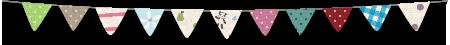 旗のガーランドのライン素材